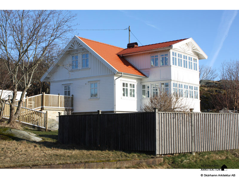 Glasveranda bohuslänskt dubbelhus